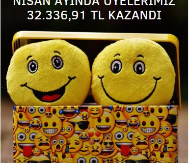 Üyelerimiz Nisan Ayında 32 Bin TL Kazandı!
